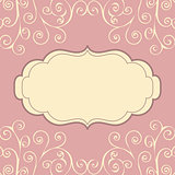 Decorative vintage pattern text background.