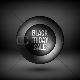 Black Friday Sale Bubble Badge