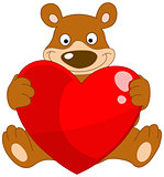 smiling bear valentine