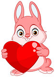Winter bunny valentine