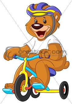 Bear on tricycles