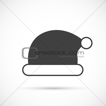 Santa claus hat icon flat