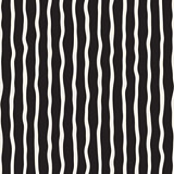 Vector Seamless Hand Drawn Black and White Stripes Pattern