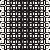 Vector Seamless Black and White Circle Lattice Pattern