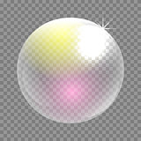 Transparent soap bubble vector clip art.
