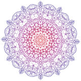 Hand-drawn christmas lace frame, mandala.