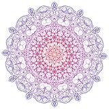 Hand-drawn christmas lace frame, mandala.