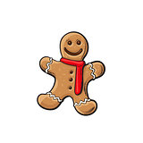 Traditional Christmas gingerbread, vector illustration