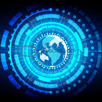 abstract Global technology background. illustration vector desig