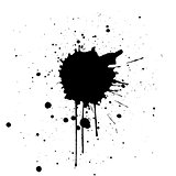 Black Ink Splatter Background. illustration vector design