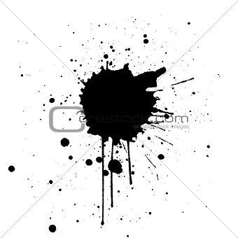 Black Ink Splatter Background. illustration vector design