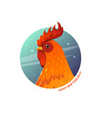 Vector Illustration rooster.