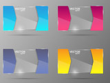 Glass banner set. Design template.