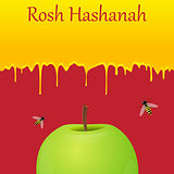 Jewish New Year greeting card. Rosh Hashanah.