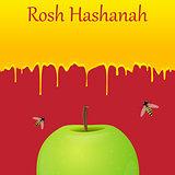 Jewish New Year greeting card. Rosh Hashanah.