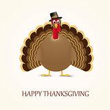 Happy Thanksgiving celebration design with turkey.
