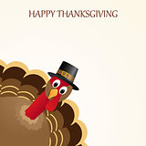 Happy Thanksgiving celebration design with turkey.
