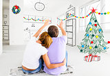 couple planning to decorate new apartment