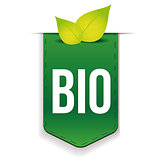 Bio ribbon with leaf green