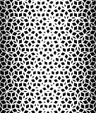 Vector Seamless Black And White Pentagon Pattern