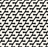 Vector Seamless Diagonal Rounded Lines Pattern