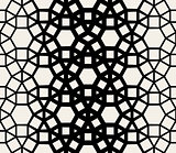 Vector Seamless Black White Geometric Lace Pattern