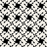 Vector Seamless Geometric Triangle  Square Pattern