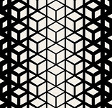 Vector Seamless Rhombus Cube Halftone Pattern