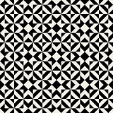 Vector Seamless Black White Ethnic Square Pattern