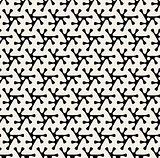 Vector Seamless Black & White Rounded Triangle Shape Pattern