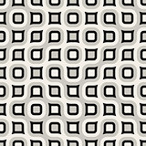 Vector Seamless  Rounded Grid Truchet Pattern