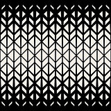 Vector Seamless Black  White Geometric Triangle  Lines Pattern