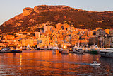Port Hercule in Monaco at sunrise