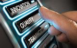 Company Values, Innovation, Quality and Teamwork