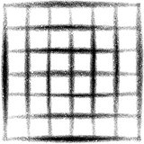 sprayed grid grunge graffiti in black over white