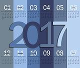 Modern calendar for 2017.