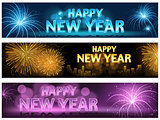 Happy New Year Banner Set