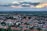 Mikulov castle and Mikulov city