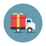 Truck delivey gift box