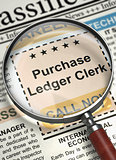 Job Opening Purchase Ledger Clerk. 3D.