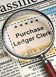 Job Opening Purchase Ledger Clerk. 3D.