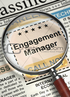 Engagement Manager Join Our Team. 3D.