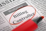 We're Hiring Billing Controller. 3D.