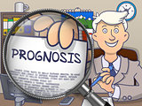 Prognosis through Magnifier. Doodle Style.