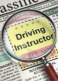 Driving Instructor Job Vacancy. 3D.