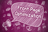 Front Page Optimization - Business Concept.