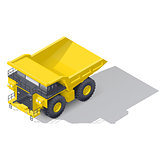 Quarry tipper truck isometric icon
