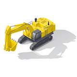 Modern quarry tracked excavator icon