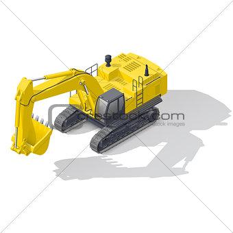 Modern quarry tracked excavator icon