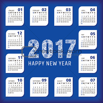 2017 year office calendar